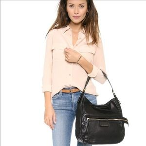 MARC BY MARC JACOBS Leather Moto Hobo Shoulder Bag